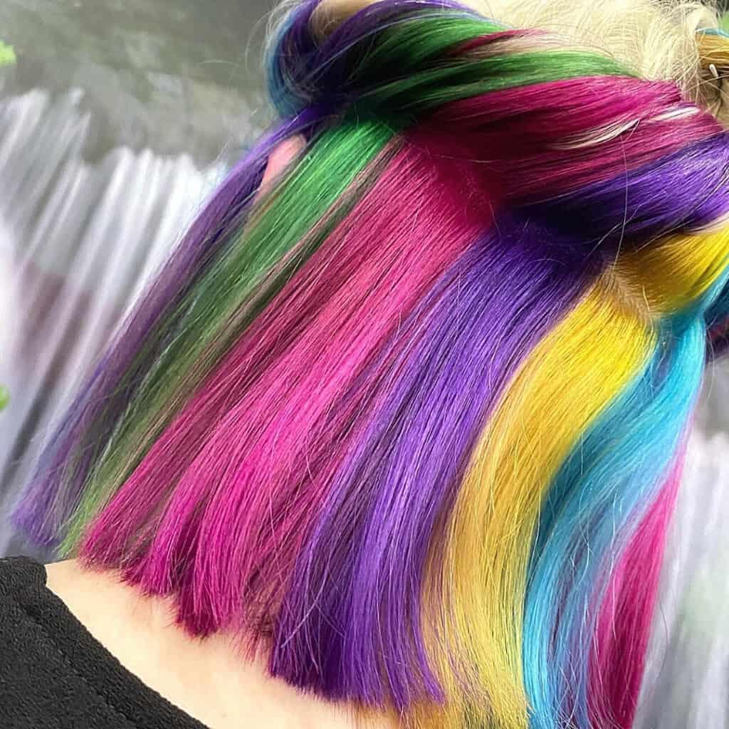 rainbow hair toowoomba